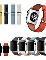 abordables -bracelet de montre pour Apple Watch série 5/4/3/2/1 boucle classique Apple / bracelet d'affaires bracelet en cuir véritable