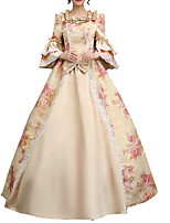 cheap -Dance Costumes Dresses Women's Performance Polyster Lace / Pattern / Print 3/4 Length Sleeve Dress
