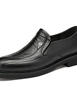 cheap -Men's Formal Shoes Nappa Leather Spring / Fall & Winter Casual / British Loafers & Slip-Ons Non-slipping Black