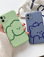 cheap -Case For Apple iPhone 11 / iPhone 11 Pro / iPhone 11 Pro Max Shockproof / Ultra-thin Back Cover Dog / Solid Colored / Cartoon TPU