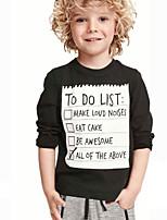cheap -Kids Boys' Basic Cartoon Long Sleeve Clothing Set Black