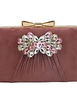 cheap -Women's Chain Corduroy Evening Bag Black / Blushing Pink / Gold