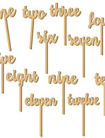 cheap -Place Cards Wooden 12 Christmas Gifts