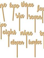 abordables -marque-places en bois 12 cadeaux de noël