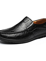 cheap -Men's Moccasin Leather Fall & Winter Loafers & Slip-Ons Black / Light Brown / Dark Brown