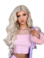 cheap -Synthetic Lace Front Wig Wavy Free Part Lace Front Wig Long Blonde Synthetic Hair 18-26 inch Women's Cosplay Soft Adjustable Blonde