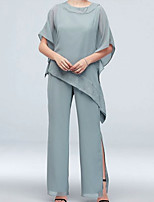cheap -Short Sleeve Polyester / Chiffon Wedding Women's Wrap With Ruching Basic