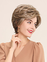 cheap -Human Hair Lace Front Wig Bob Pixie Cut Side Part style Indian Hair Natural Straight White Brown Wig 130% Density Cosplay Party Classic African American Wig Women's Short Cosplay Suits Costume