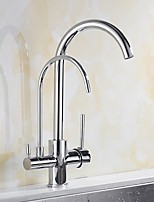 cheap -Kitchen faucet - Single Handle One Hole Electroplated Tall / ­High Arc / Purified water Centerset Contemporary Kitchen Taps