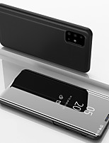 cheap -Case For Samsung Galaxy A91/ A81 / A71 / A51 Luxury Smart Clear View Mirror Flip Stand Phone Case for Samsung Galaxy A90 / A80 / A70S / A70 / A60 / A50 / A50S / A40 / A40S