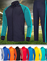 cheap -Men's Side-Stripe 2-Piece Tracksuit Sweatsuit 2pcs Winter Front Zipper Stand Running Fitness Jogging Thermal / Warm Breathable Soft Sportswear Athletic Clothing Set Long Sleeve Activewear / Full Zip