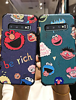 cheap -Case for Samsung scene map Samsung Galaxy S10 S10 Plus A10S A20S Cartoon pattern Strong relief Silk pattern Skin Thicken TPU Texture Four corners Anti-fall All-inclusive phone case