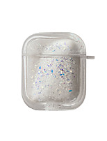 cheap -Case For AirPods Cute / Shockproof / Transparent Headphone Case Hard