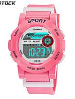 cheap -SYNOKE Digital Watch Digital Sporty Stylish Silicone 30 m Water Resistant / Waterproof Calendar / date / day LCD Digital Outdoor Fashion - Black / Blue White Blue