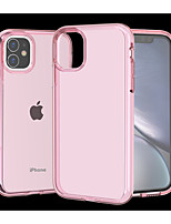 cheap -Case For Apple iPhone 11 / iPhone 11 Pro / iPhone 11 Pro Max Shockproof / Translucent Back Cover Solid Colored TPU