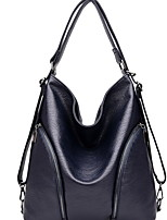 cheap -Women's Zipper Cowhide Top Handle Bag Solid Color Black / Wine / Yellow
