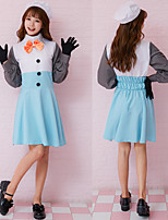 cheap -Snowman Dress Cosplay Costume Adults' Women's Cosplay Halloween Halloween Festival / Holiday Polyester Pale Blue Women's Carnival Costumes