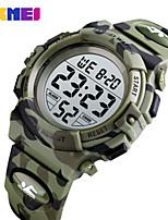 cheap -SKMEI Men's Digital Watch Digital Sporty PU Leather Navy / Dark Green 50 m Water Resistant / Waterproof Calendar / date / day Chronograph Digital Outdoor - Dark Green Dark Blue Light Blue Two Years