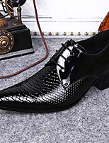 cheap -Men's Formal Shoes Nappa Leather Spring & Summer / Fall & Winter Casual / British Oxfords Non-slipping Black / Wine / Party & Evening
