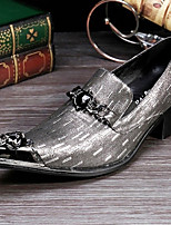 cheap -Men's Formal Shoes Nappa Leather Spring & Summer / Fall & Winter Classic / British Loafers & Slip-Ons Non-slipping Silver / Party & Evening