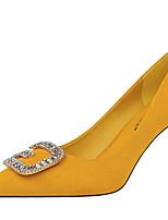 cheap -Women's Heels Stiletto Heel Pointed Toe PU Winter Black / Yellow / Red