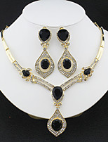 cheap -Women's Hoop Earrings Necklace Bridal Jewelry Sets Classic Stylish Basic Cute Earrings Jewelry Black / Lake Blue / White For Wedding Party Engagement Carnival One-piece Suit
