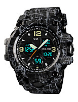cheap -Men's Sport Watch Digital Stylish Silicone Black / Blue / Grey 50 m Water Resistant / Waterproof Chronograph Alarm Clock Digital Analog - Digital Casual Outdoor - Black Black / Gray Light Green Two