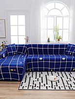 cheap -Grid Plaid Print Dustproof All-powerful Slipcovers Stretch L Shape Sofa Cover Super Soft Fabric Couch Cover with One Free Pillow Case