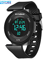 cheap -SYNOKE Digital Watch Digital Sporty Stylish Silicone 30 m Water Resistant / Waterproof Calendar / date / day LCD Digital Outdoor Fashion - Black Black / White White