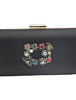 cheap -Women's Chain Satin Evening Bag Black