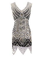 cheap -Dance Costumes Dresses Women's Performance Terylene Beading / Paillette Sleeveless Dress
