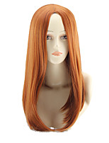 cheap -Synthetic Wig Curly Asymmetrical Wig Long Light Brown Synthetic Hair 27 inch Women's Best Quality Brown