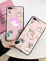 cheap -Cute Unicorn Case For Apple iPhone 11 / iPhone 11 Pro / iPhone 11 Pro Max Shockproof / LED Flash Lighting / Ultra-thin Back Cover Cartoon PC