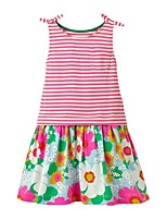 cheap -Kids Girls' Striped Dress Blushing Pink