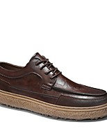 cheap -Men's Comfort Shoes Microfiber Fall & Winter Oxfords Black / Brown / Khaki