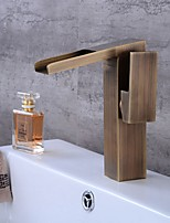 cheap -Bathroom Sink Faucet - Waterfall Electroplated Free Standing Single Handle One HoleBath Taps