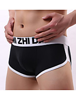 cheap -Men's Basic Briefs Underwear Mid Waist Black White Blue M L XL