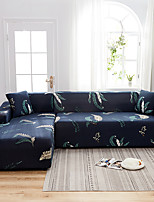 cheap -Seaweed Print Dustproof All-powerful Slipcovers Stretch L Shape Sofa Cover Super Soft Fabric Couch Cover with One Free Pillow Case