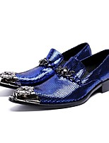 cheap -Men's Comfort Shoes Cowhide Fall & Winter Loafers & Slip-Ons Blue