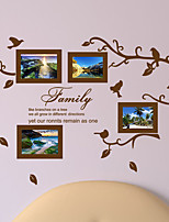 cheap -Picture Frames Tree Branches Decorative Wall Stickers - Plane Wall Stickers / Animal Wall Stickers Animals / Characters Living Room / Indoor