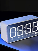cheap -Alarm Clock Wireless Bluetooth Audio Alarm Clock Portable Radio LED Square Rectangular Multifunctional Desk Clock
