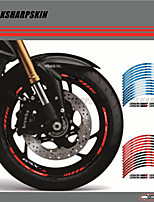 cheap -12 X Thick Edge Outer Rim Sticker Stripe Wheel Decals FIT SUZUKI GSXS1000 GSXS1000F 17''
