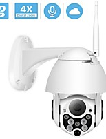 cheap -HODING HDG05 1080P PTZ IP Camera Wifi Outdoor Speed Dome Wireless Wifi Security Camera Pan Tilt 4X Digital Zoom 2MP Network CCTV Surveillance