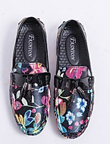 cheap -Men's Comfort Shoes Synthetics Spring Loafers & Slip-Ons Black