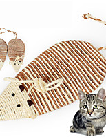cheap -Scratching Board Cat Pet Toy 1pc Animals Sisal Gift