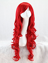 cheap -Synthetic Wig Curly Asymmetrical Wig Medium Length Red Synthetic Hair 31 inch Women's Best Quality Black