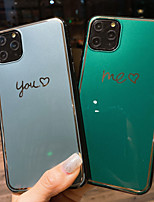 cheap -You Me Heart Case For Apple iPhone 11 / iPhone 11 Pro / iPhone 11 Pro Max Ultra-thin / Pattern Back Cover Word / Phrase / Solid Colored TPU