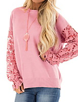 cheap -Women's Daily T-shirt - Color Block Blushing Pink