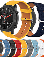 cheap -Smartwatch Band for Amazfit GTR 47mm / Stratos3 / Nexo / Pace / Stratos 2 /Stratos Huami Sport Band High-end Fashion comfortable Leather Loop Genuine Leather Wrist Strap 22m