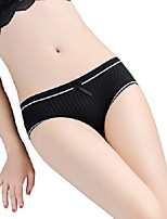 cheap -Women's Lace Brief - Asian Size Mid Waist Black White Royal Blue One-Size